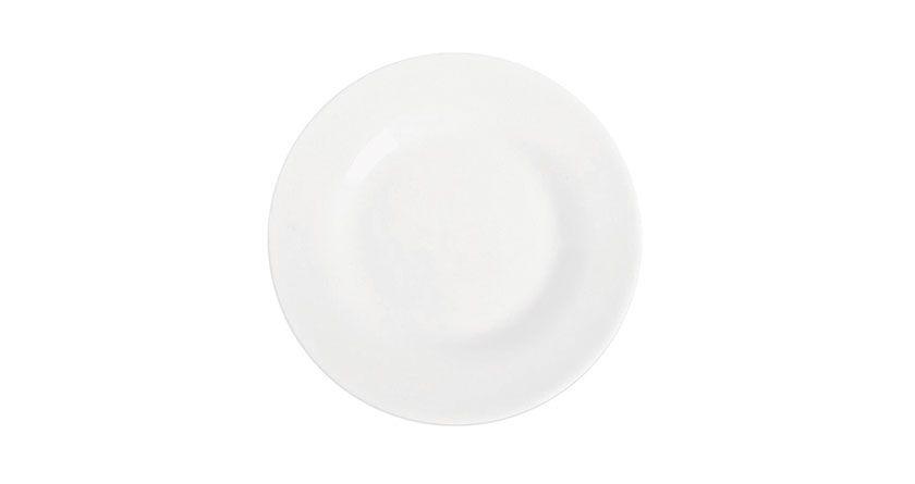 Prato Sobremesa Menu Opaline 19 cm Branco