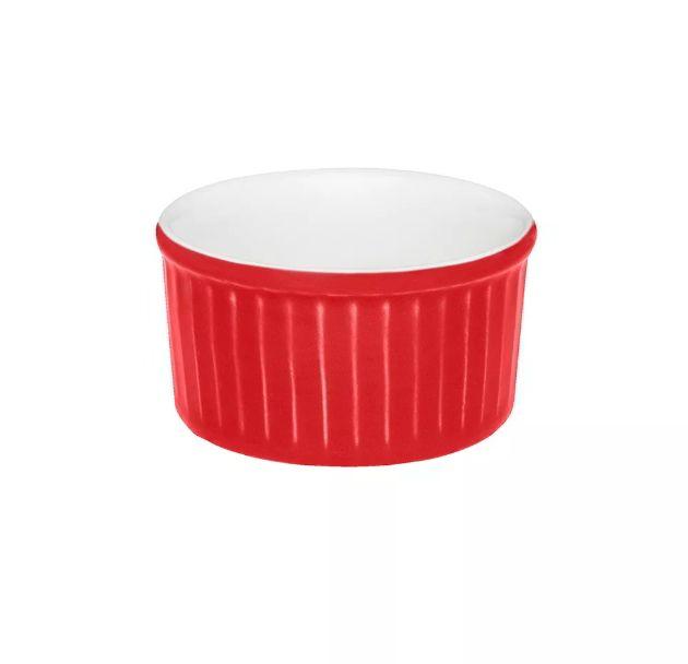 Ramequin Bicolor 100ml  Vermelho e Branco