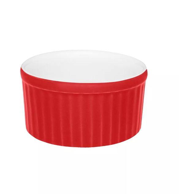 Ramequin Bicolor 180ml  Vermelho e Branco