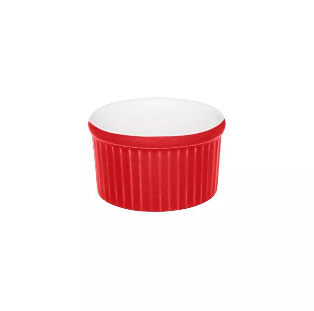 Ramequin Bicolor 50ml  Vermelho e Branco
