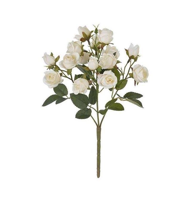 Rosas Camelia  31 cm Branco Outono