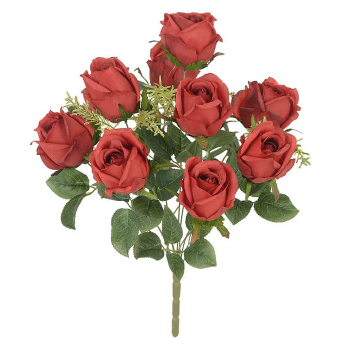 Rosas Mini 31 cm Marsala Outono