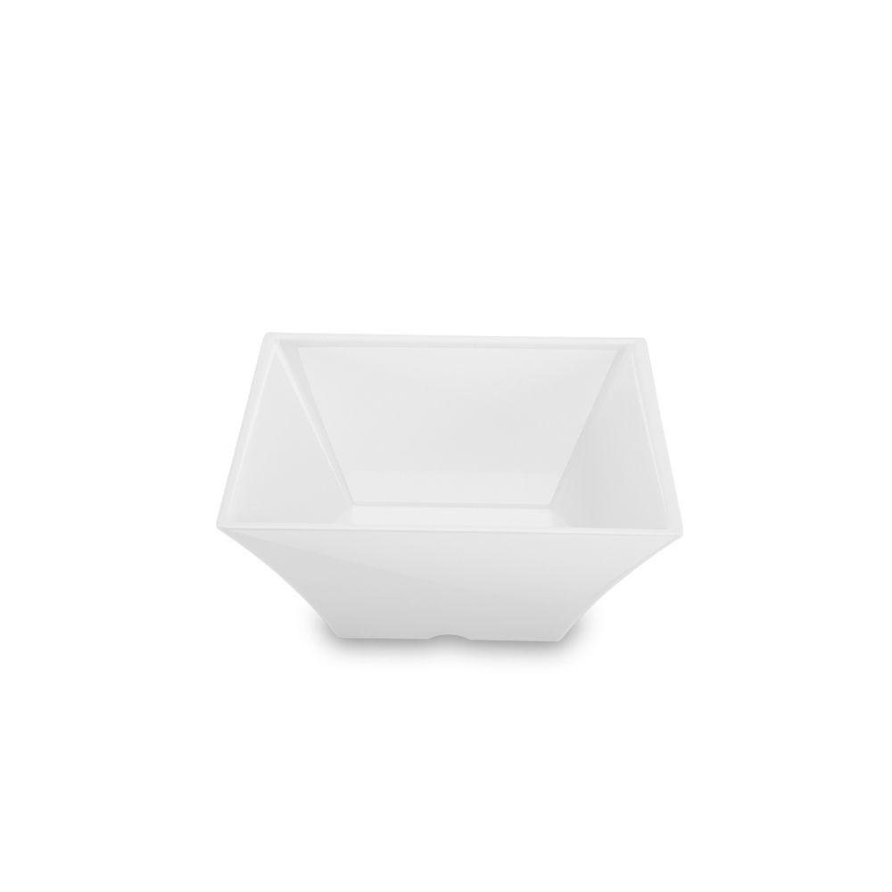 Saladeira Melamina 19,2 x 8,3 cm Square Branca
