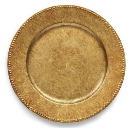 Sousplat Aeris 33cm Ouro Velho