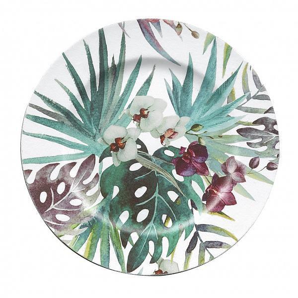 Sousplat Artsy 33cm Orquídea