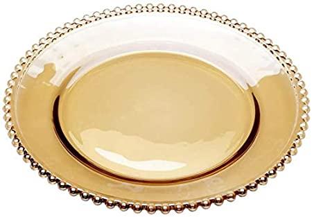Sousplat de Cristal 32cm Pearl Ambar