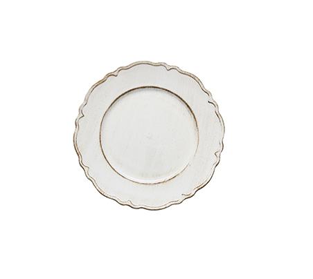 Sousplat de Sobremesa 25cm Moon Branco