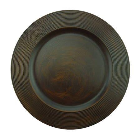 Sousplat Disco Wood 33cm