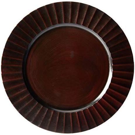 Sousplat Dunas Dark 33cm Wood