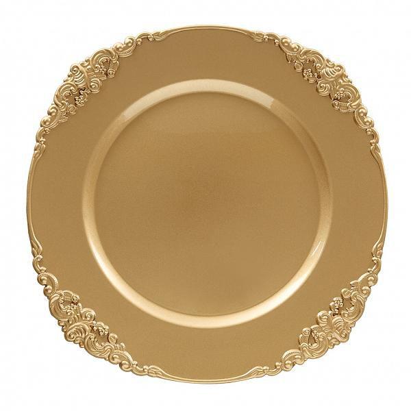 Sousplat Galles Barroco 33cm Gold