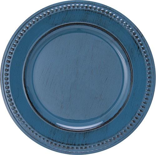 Sousplat Galles Dots 33cm Bluestone Antique