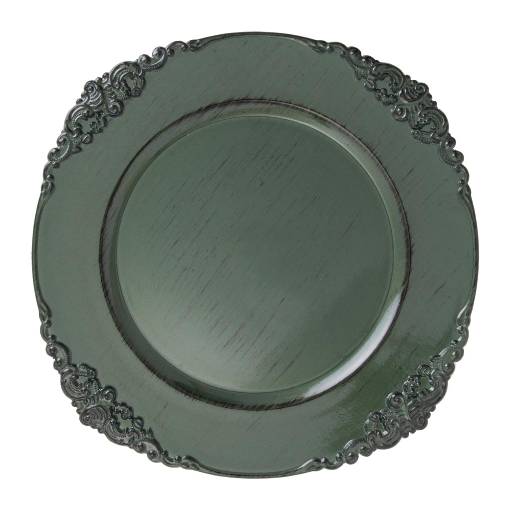 Sousplat Galles Barroco 33cm Green Antique