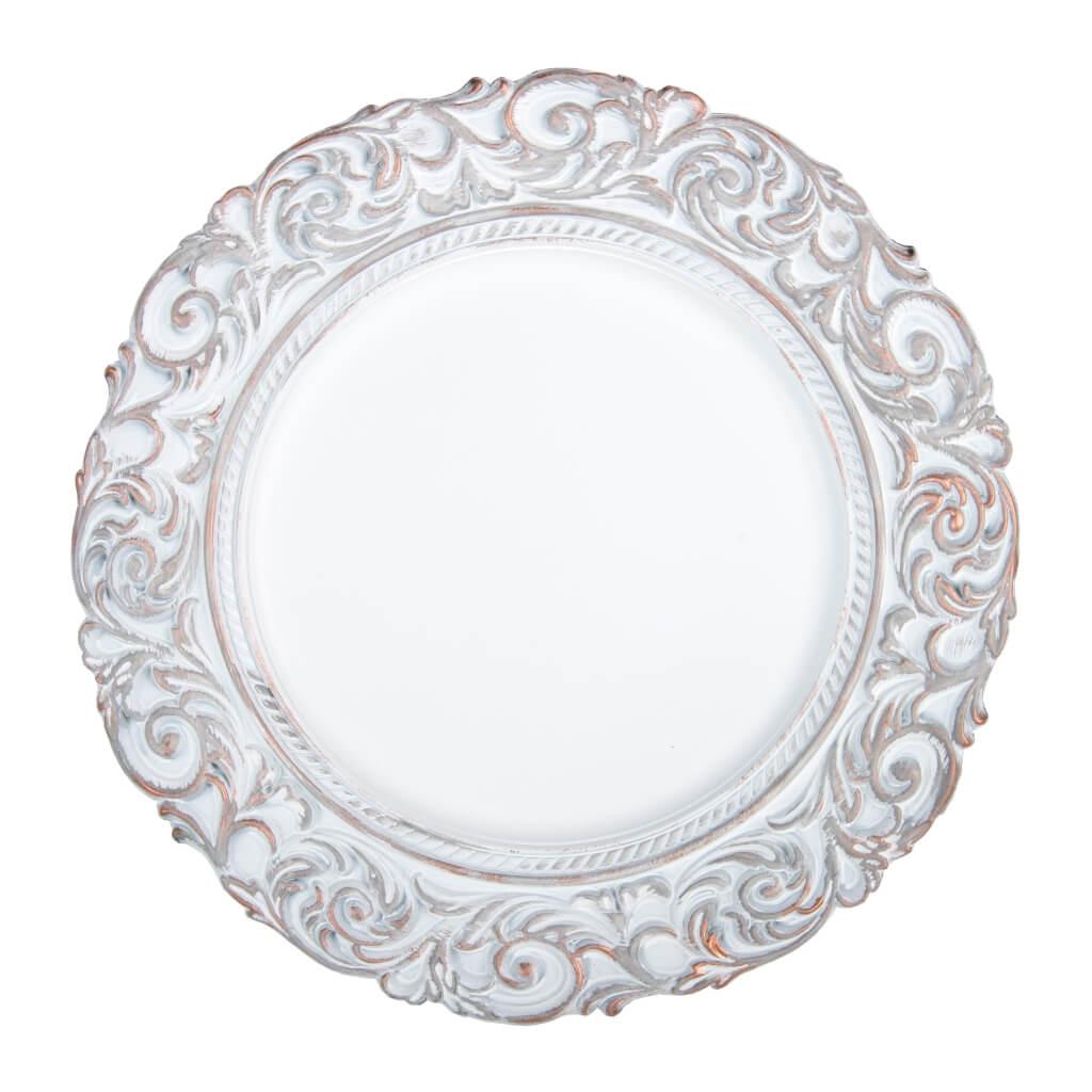 Sousplat Imperial Florença 33cm Branco Rosé