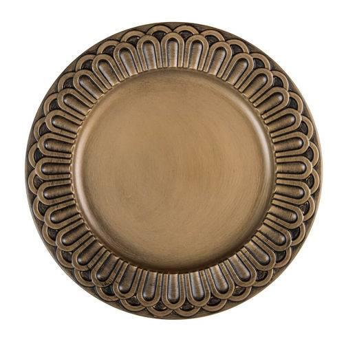 Sousplat Imperial Turim 38cm Ouro Antique