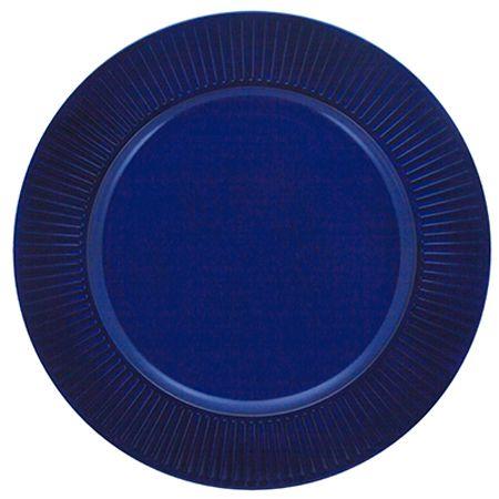 Sousplat Listras 33cm Azul Marinho