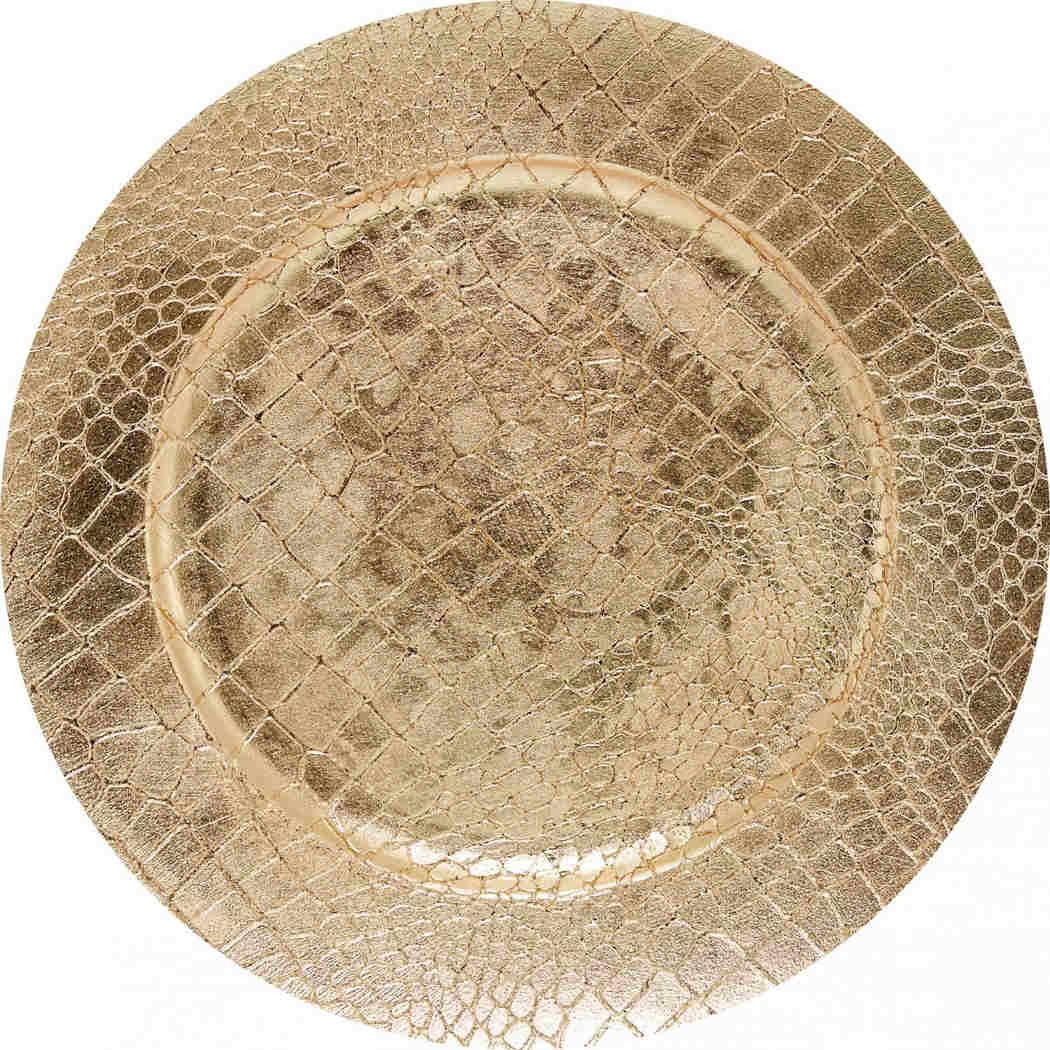 Sousplat Piton Dourado 33cm