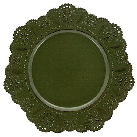 Sousplat Renda 33cm Verde