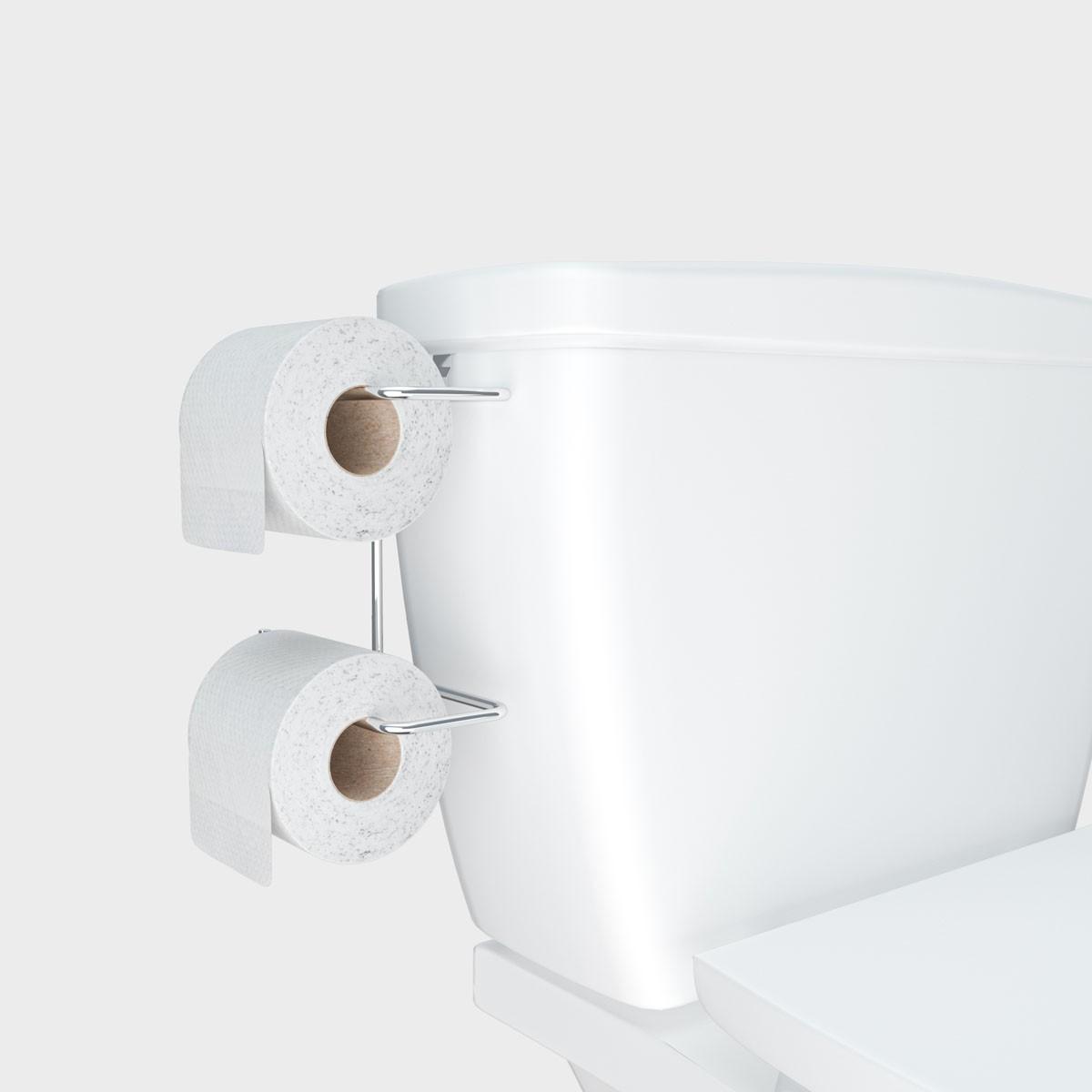 Suporte Duplo Para Papel Higiênico  Caixa Acoplada