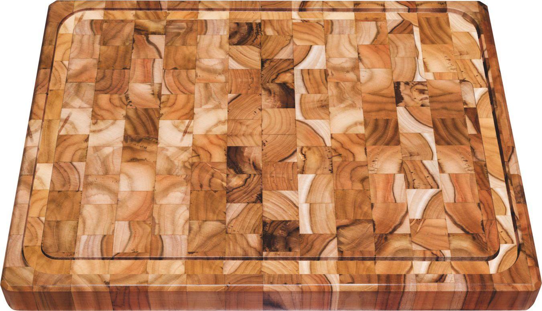 Tábua para Churrasco Madeira Invertida Teca 50 x 38 x 4 cm