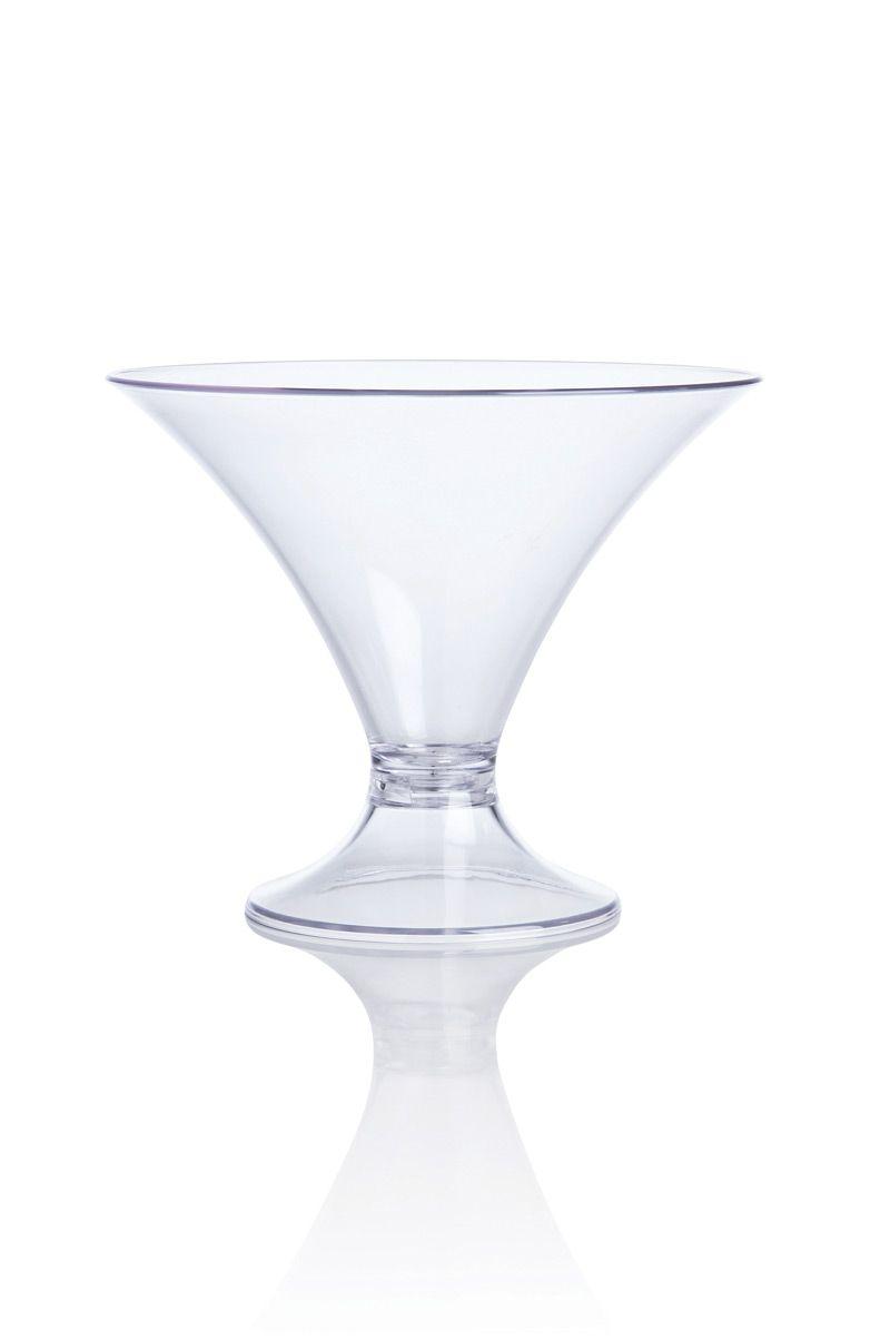 Taça Acrílico Baixa 20,5x17cm Natural Vitra