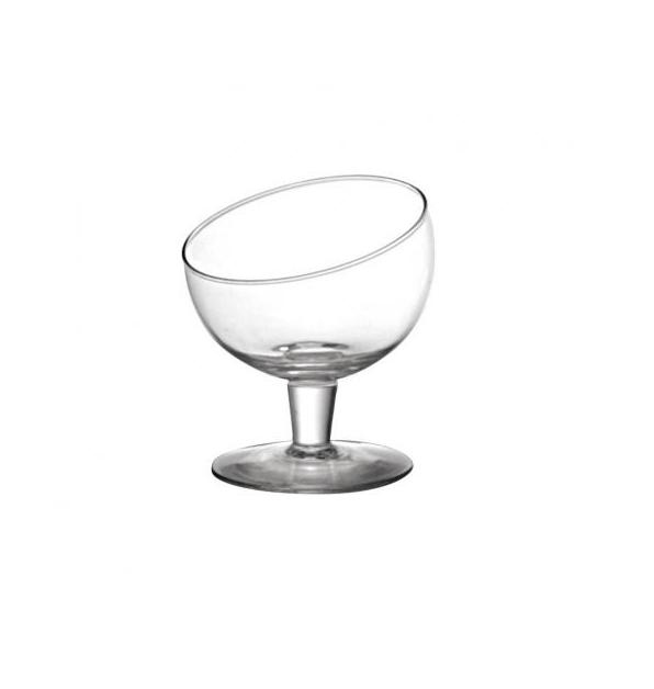 Taça de Vidro Diagonal Transparente P
