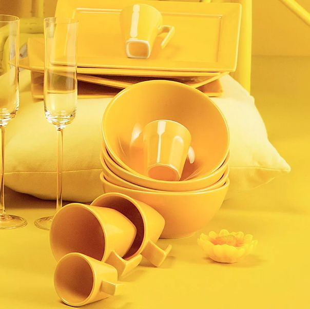 Tigela Cereal Bowl 600ml cm Amarela