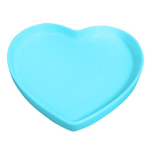 Travessa de Coração Rasa Azul Bebe