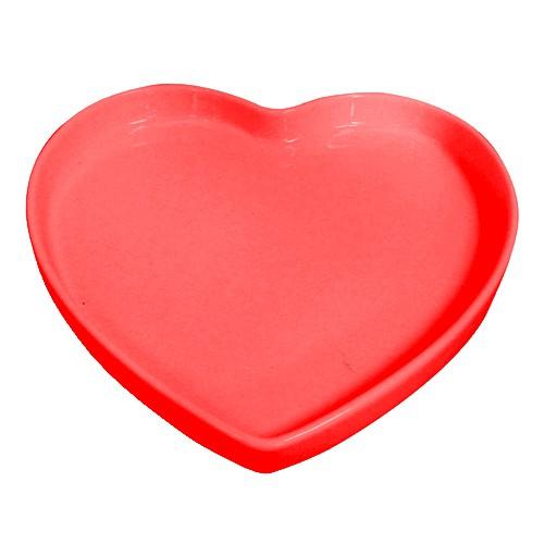Travessa de Coração Rasa Vermelha