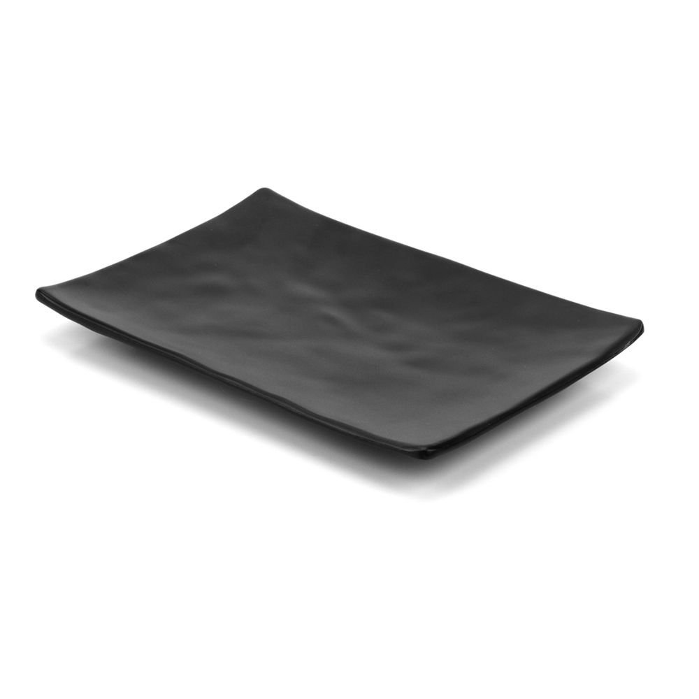Travessa de Melamina Sushi Sashimi Black 20x14cm