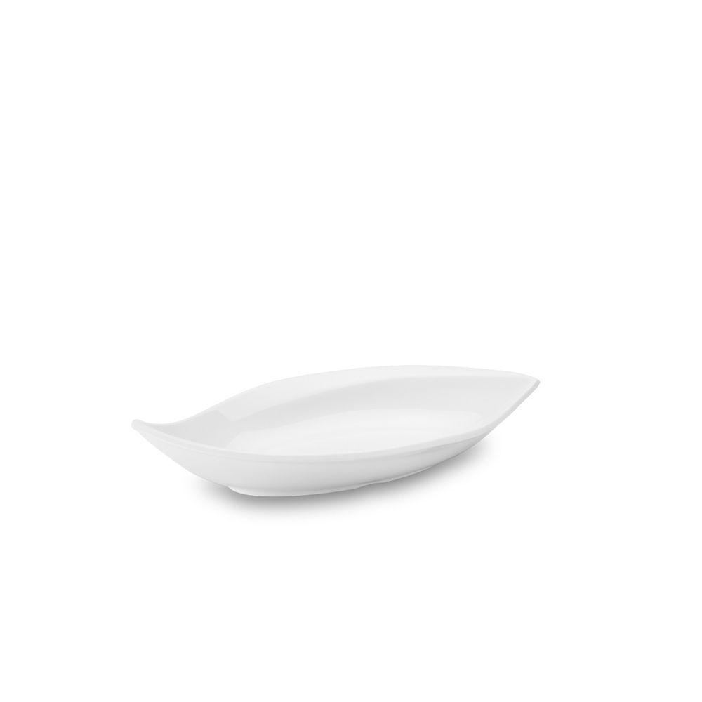 Travessa Funda Folha Melamina 32 x 18,5 cm Branca