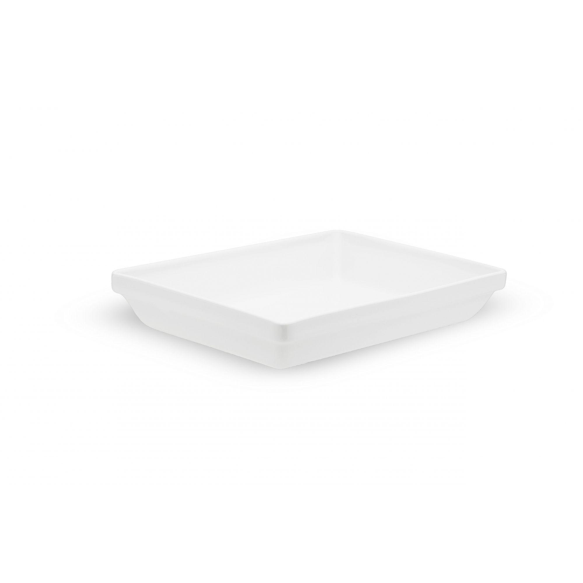 Travessa Porcelana Refratária Empilhável 1,25 L Branca