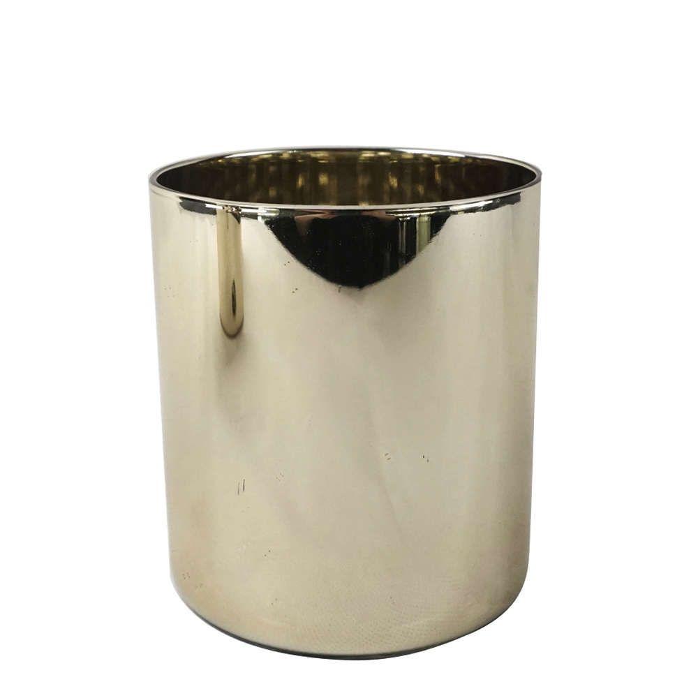 Vaso de Vidro Dourado 8,8x9,8cm