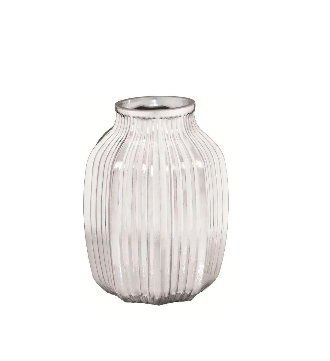 Vaso de Vidro Prata 21cm