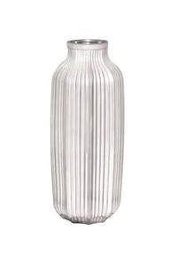 Vaso de Vidro Prata 31cm