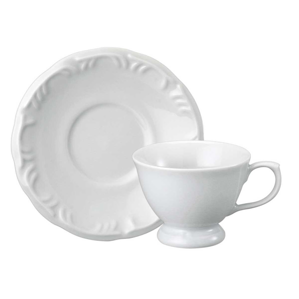 Xícara de Café com Pé e Pires Porcelana 70ml Pomerode