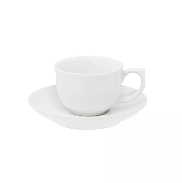 Xícara de Café com Pires 100ml Flamingo White
