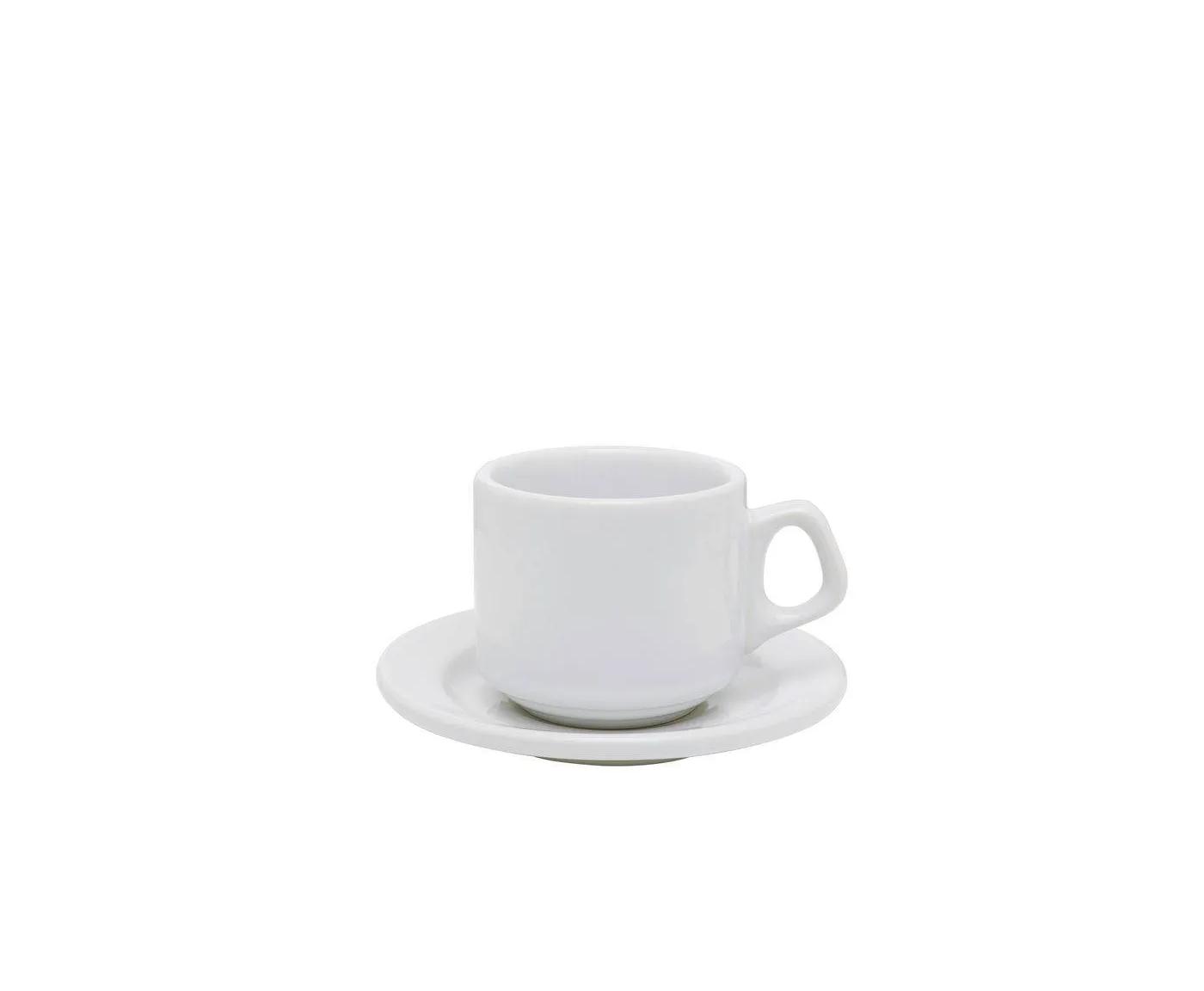 Xícara de Café com Pires 65ml Vitramick Plus