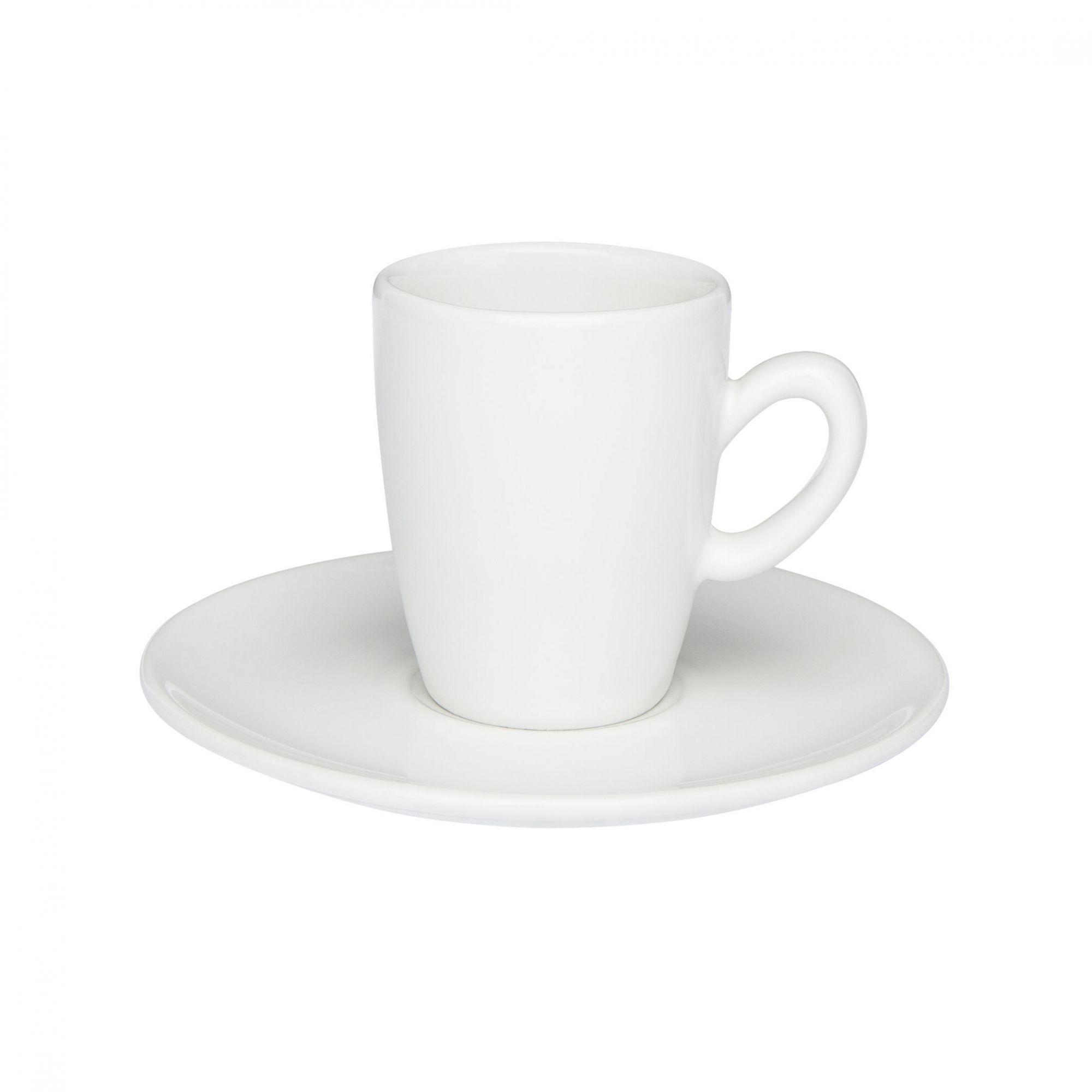 Xícara de Café com Pires 75 ml Expresso Longo Branca