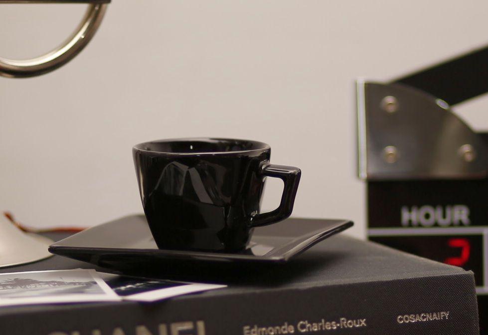 Xícara de Café com Pires 75 ml Quartier Black