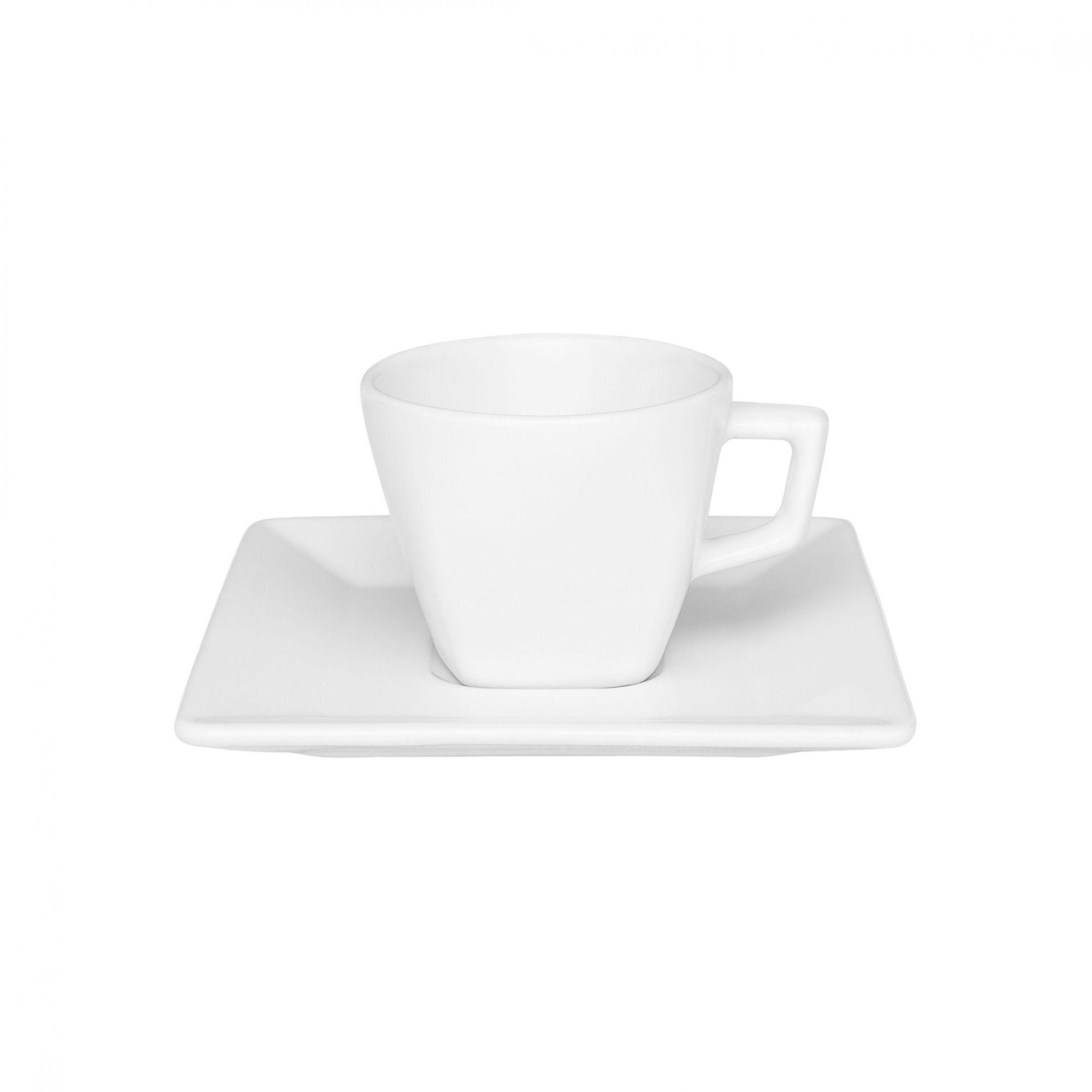Xícara de Café com Pires 75 ml Quartier White