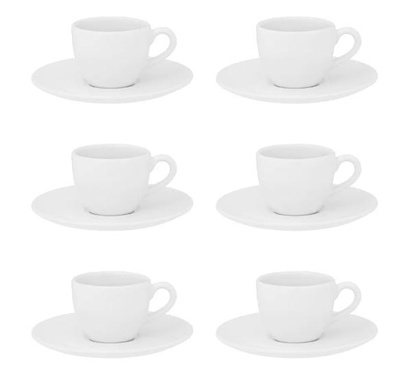 Xícara de Café com Pires 75ml Coup White