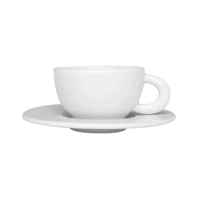 Xícara de Café com Pires 80ml Moon White