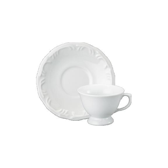 Xicara de Chá com Pé e Pires Porcelana 200ml Pomerode