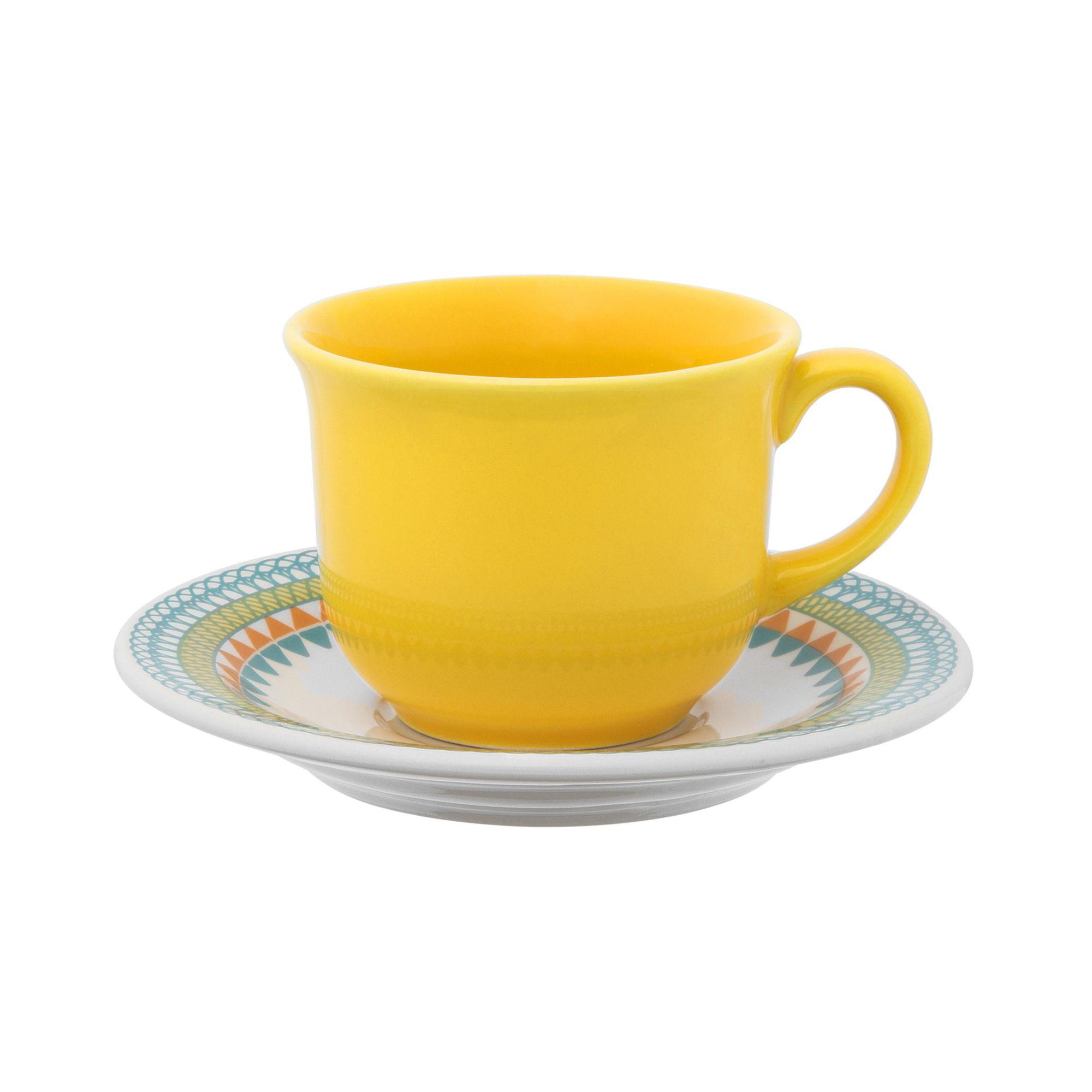 Xicara de Chá com Pires 200 ml Bilro Daily