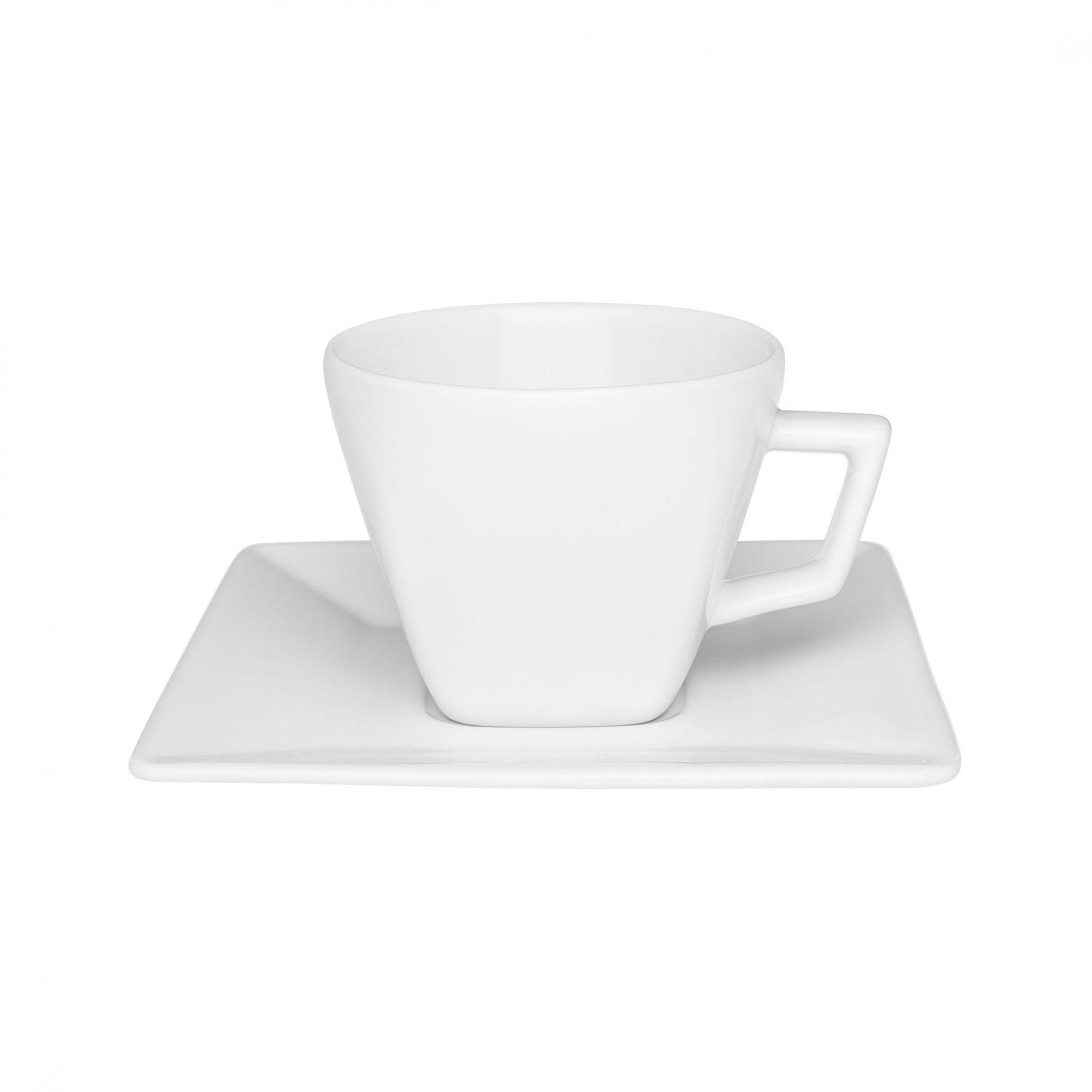 Xícara de Chá com Pires 200 ml Quartier White