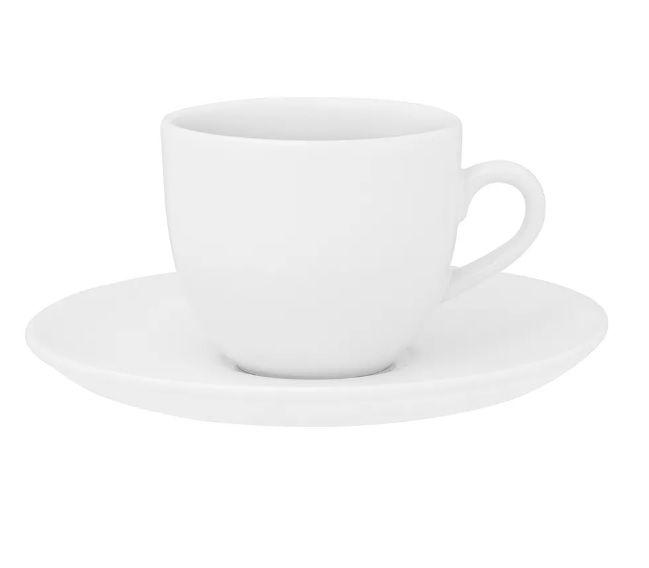 Xícara de Chá com Pires 200ml Coup Branca