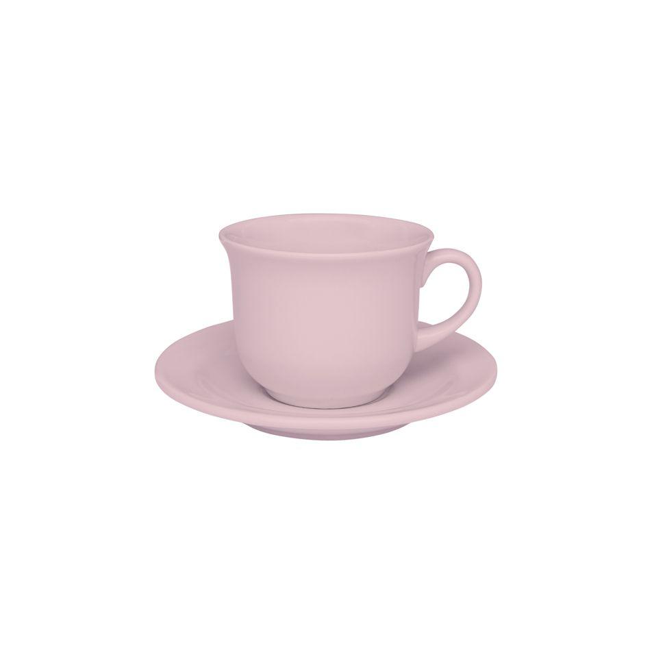 Xícara de Chá com Pires 200ml Floreal Milenial