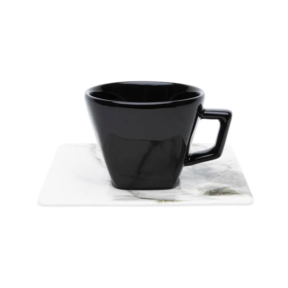 Xícara de Chá com Pires 200ml Golden Stone