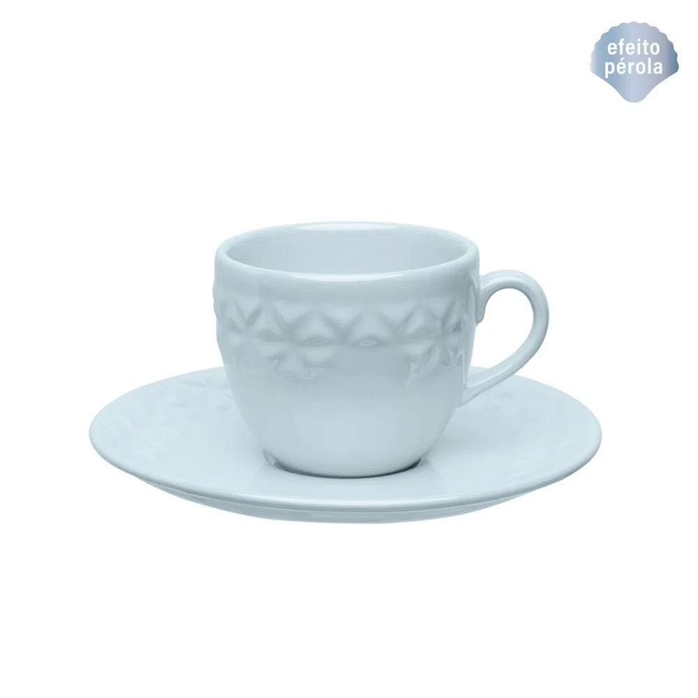 Xícara de Chá com Pires 200ml Mia Cristal