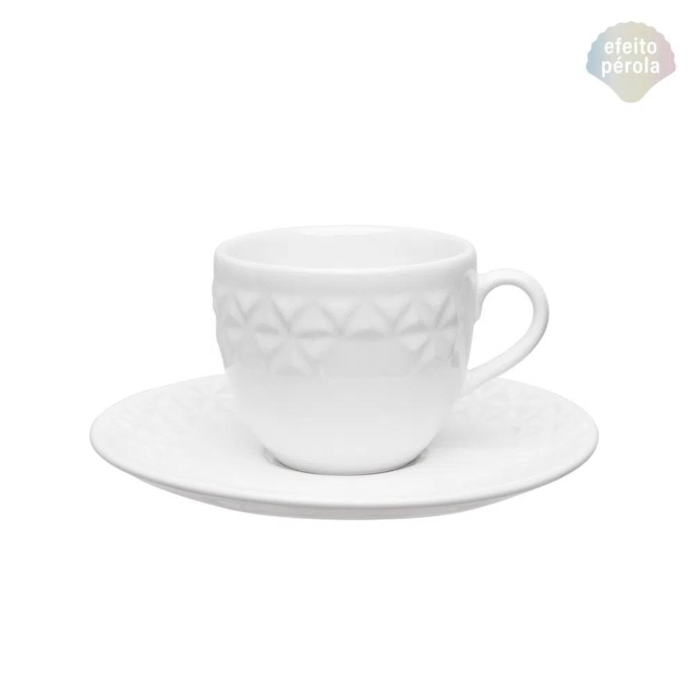 Xícara de Chá com Pires 200ml Mia Perola